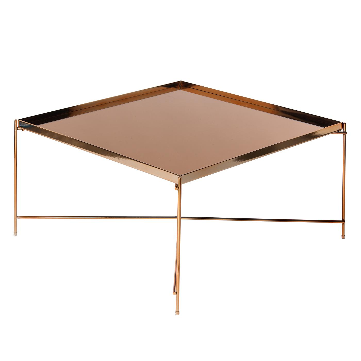 Bo Living SEA Oakland Copper Metal Mirror Coffee Table - Square