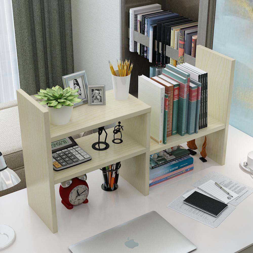 Small Items Shelf Office Book Desktop Storage Organizing Storage Rack Kitchen Shelves Wooden Shelf