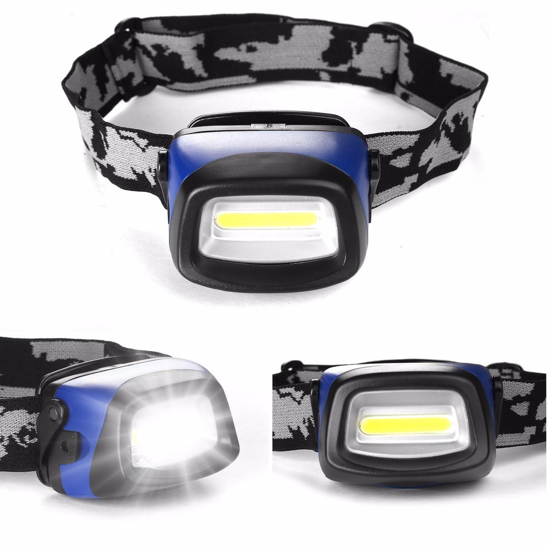 Led Camping Headlight, Waterproof Cob Led Headlight Ultra Bright Outdoor Camping Hiking Flashlight By Wripples.