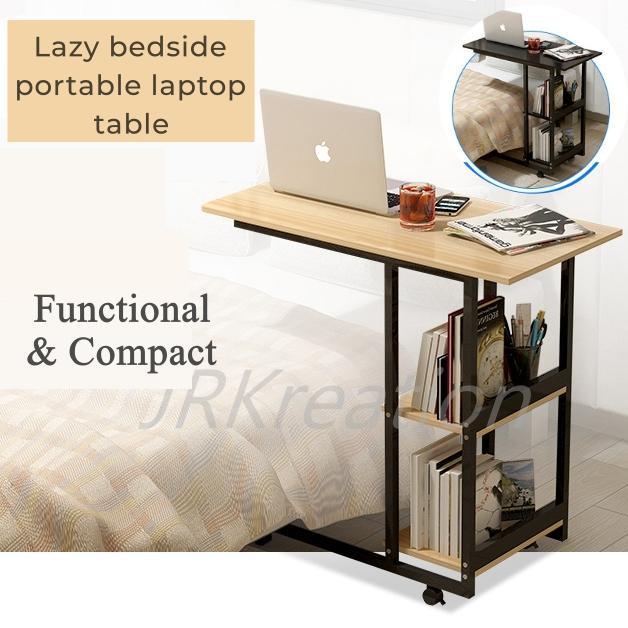 Laptop/ Desk /Bed Portable Economical lazy bedside storage shelves laptop desk