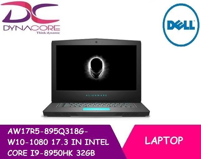 DELL AW17R5-895Q318G-W10-1080 17.3 IN INTEL I9-8950HK 32GB 1TB 512GB SSD WIN 10