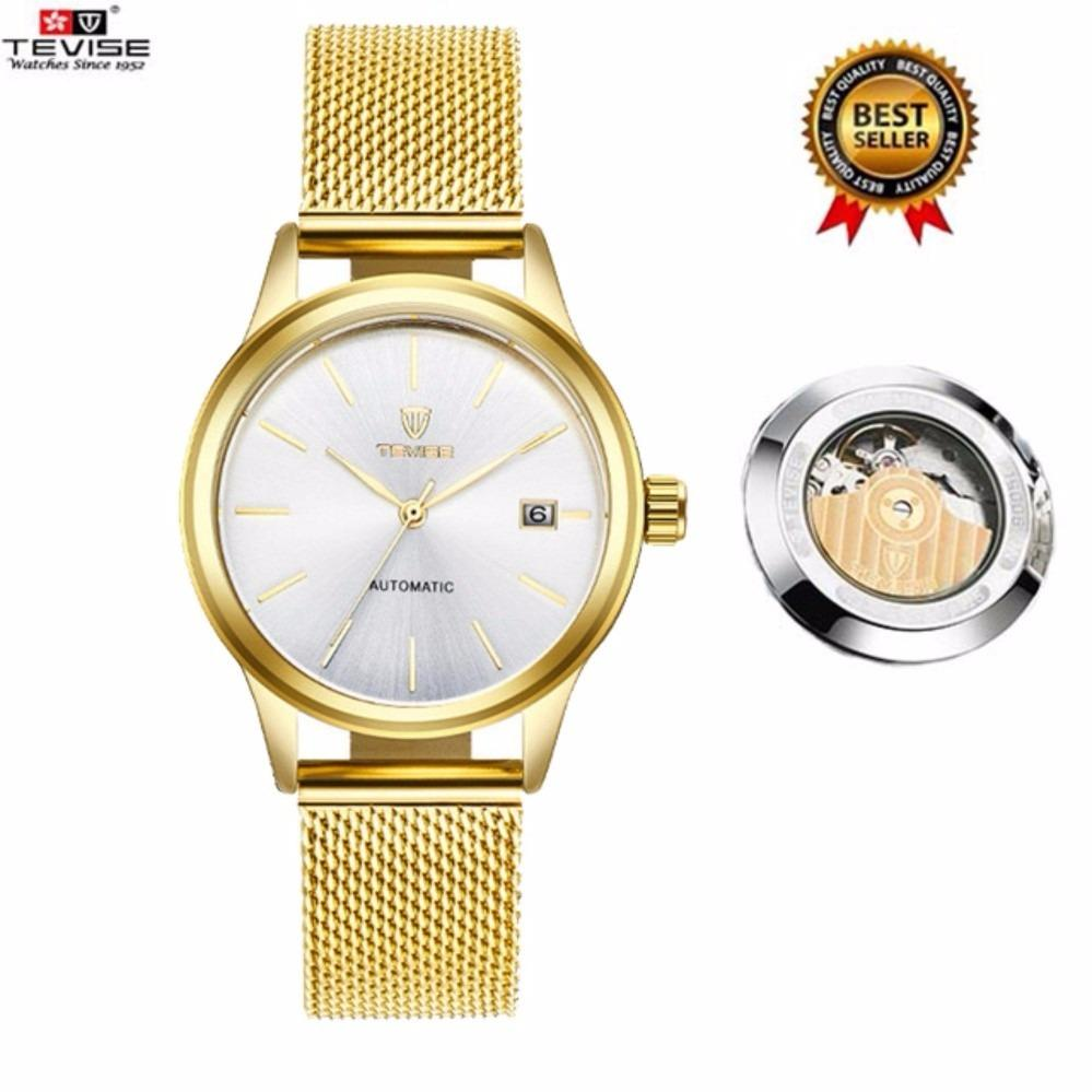 Sale 100 Genuine 2017 New Tevise Women Watches Luxury Brand Fashion Quartz Ladies Tevise Waterproof Steel Automatic Mechanical Watches Date Women S Dress Watches 9017 China Cheap