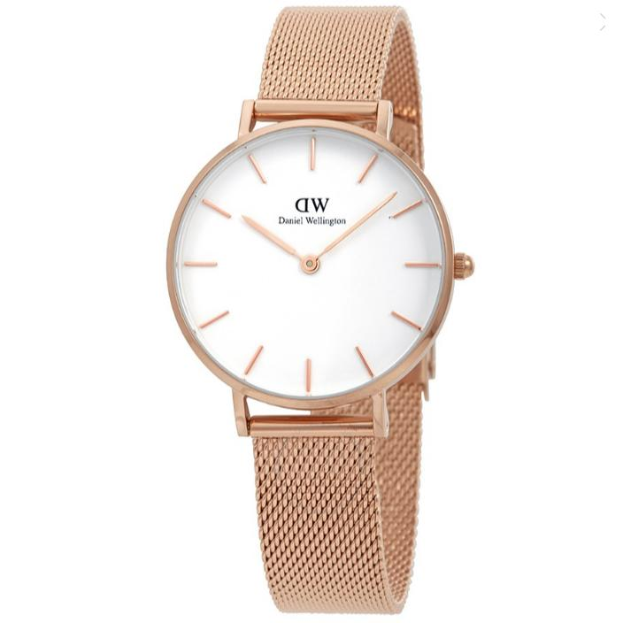 Daniel Wellington Classic 32Mm Petite Melrose White Face Dial Ladies Watch Dw00100163 Lowest Price