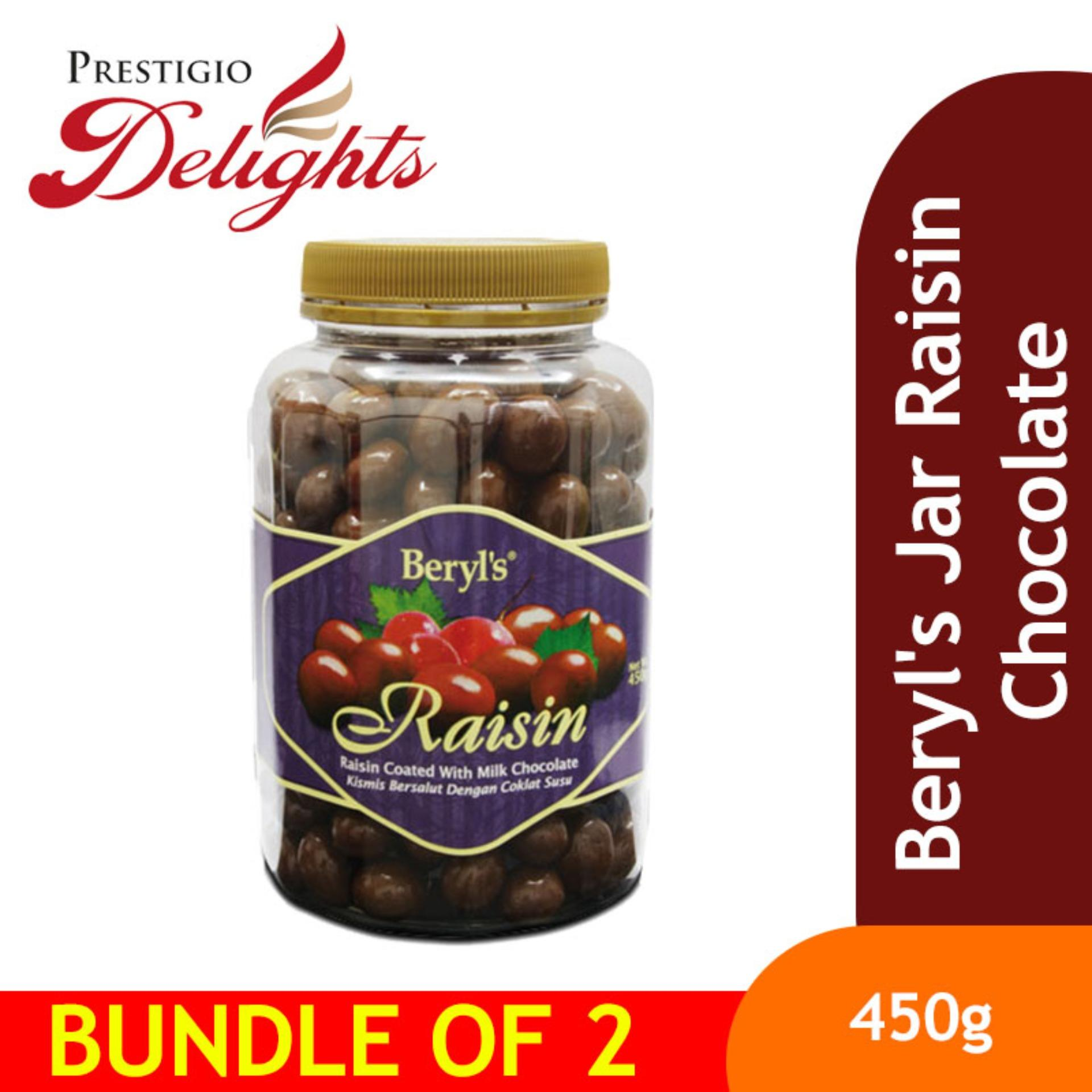 Beryls Jar Raisin Chocolate Bundle Of 2 By Prestigio Delights.