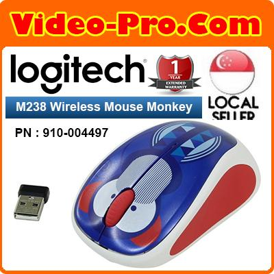 Logitech M238 Colorful Play Collection Wireless Mouse Monkey (910-004497)  Singapore