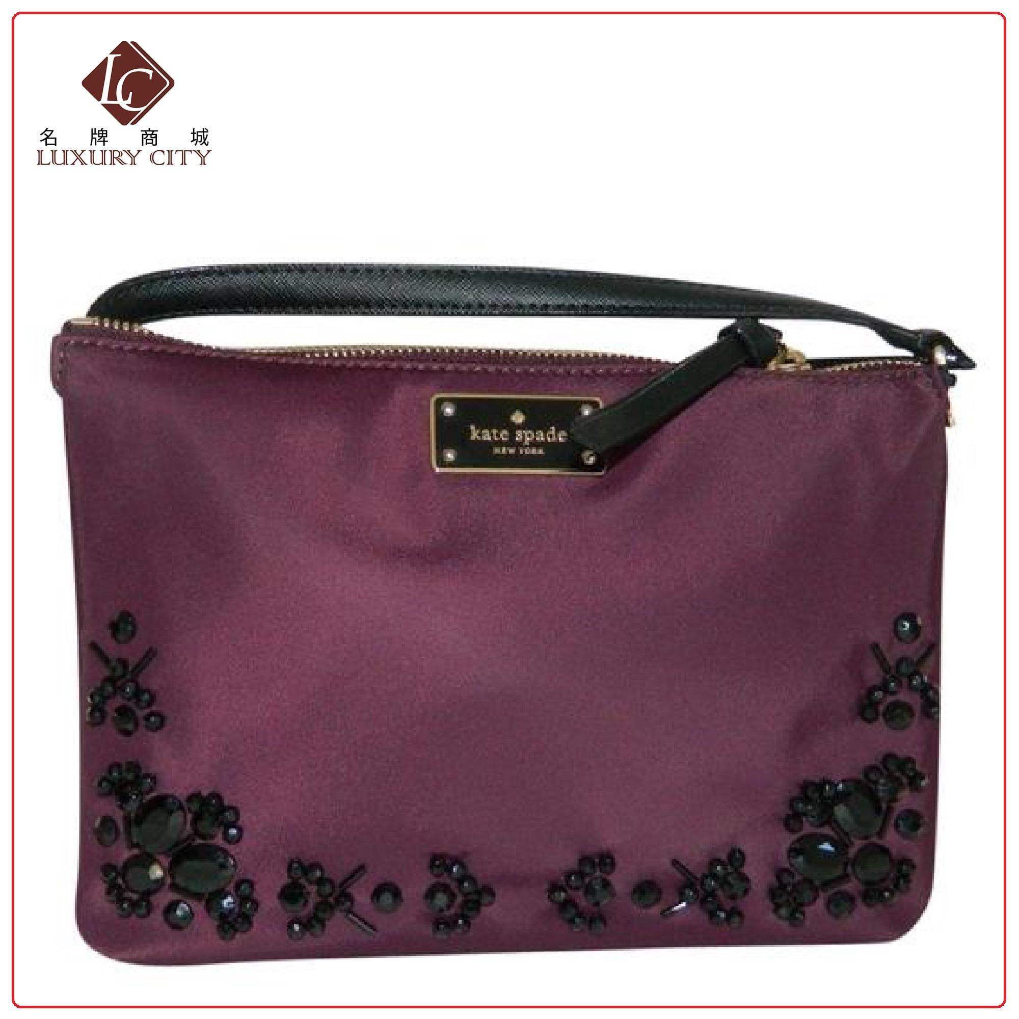 best website 5244b 4711c Kate Spade Madelyn Wilson Road Embellished Crossbody Bag WKRU5409 (Deep  Plum)