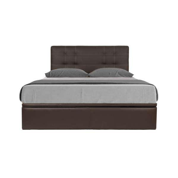 [Furniture Ambassador] Boris Faux Leather Storage Bed (Queen Size)