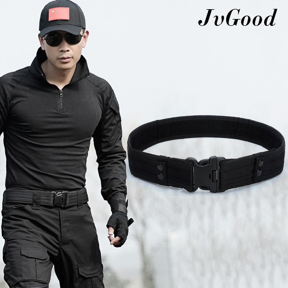 Jvgood Security Tactical Combat Belt Utility Gear Adjustable Heavy Duty Police Military Equipment For Outdoor By Jvgood.
