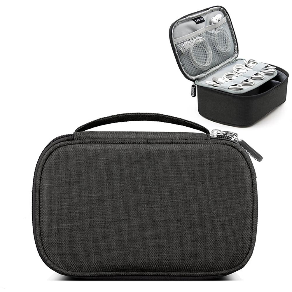 Niceeshop Multifunction Digital Case Electronics Accessories Travel Organiser Carry Storage Bag For Cards, Hard Drives, Earphones, Usb Cables, Chargers(l / M Size ,oxford Cloth) - Intl By Nicee Shop.