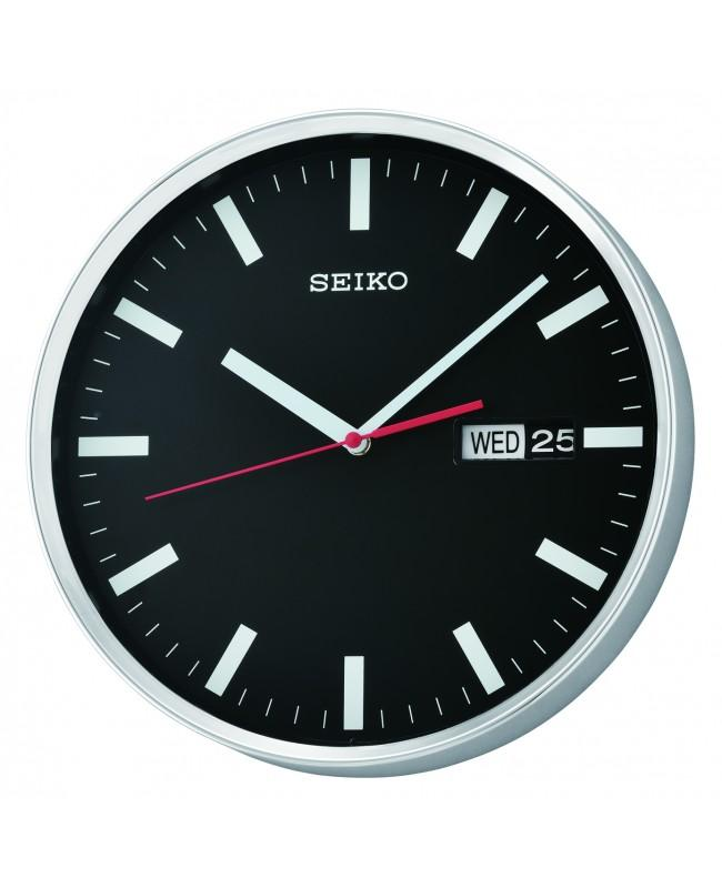 NEW Seiko QXF104A QXF104AN Wall Clock with Day & Date