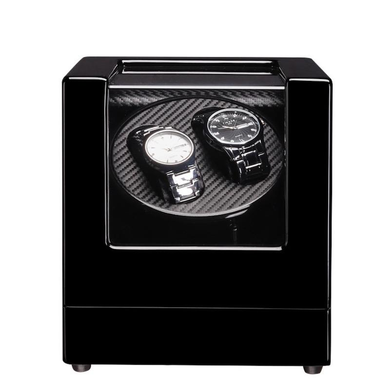 Automatic Watch Winder Box Battery Ac Power Operated Ultra-Silence 2+0 By Gxm Gadgets.