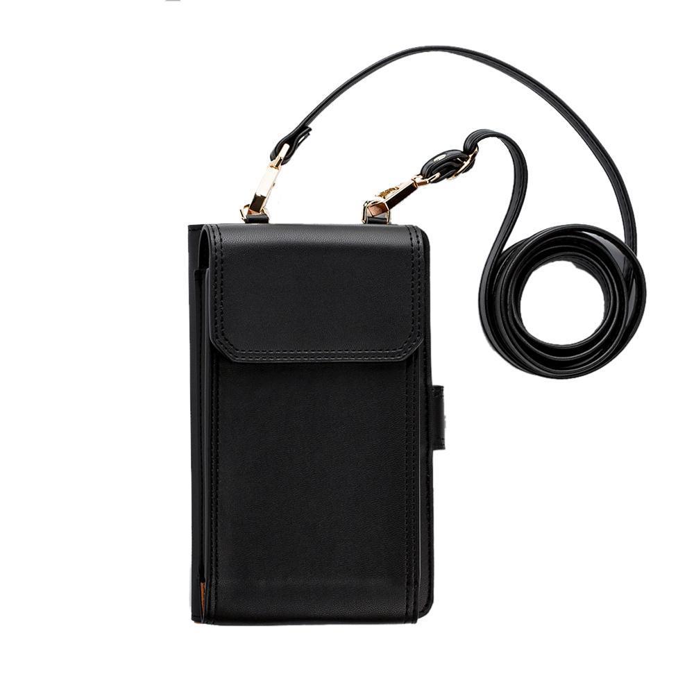 niceEshop Universal Mini PU Leather Purse Messenger Bag Ladies Multipurpose Wallet Shoulder Bag Phone Case For