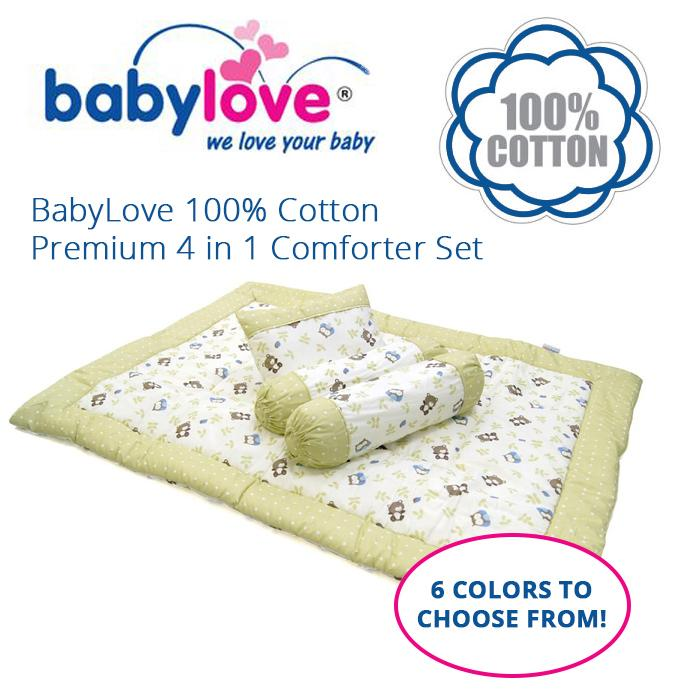 Babylove 100% Cotton Premium 4 In 1 Comforter Set By Babylove Asia.