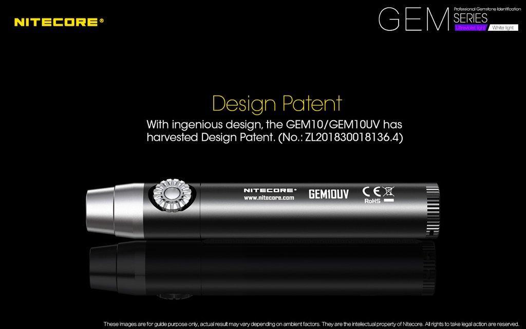 Nitecore GEM10UV 3000MW UV Flashlight Torchlight
