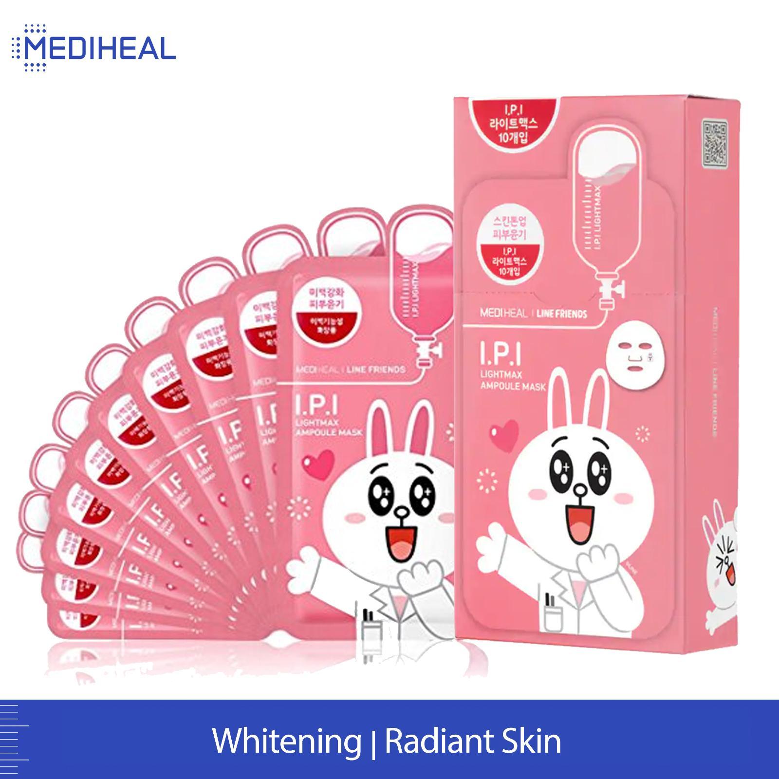 MEDIHEAL LINE I.P.I Lightmax Ampoule Mask Box (27ml x 10pc)
