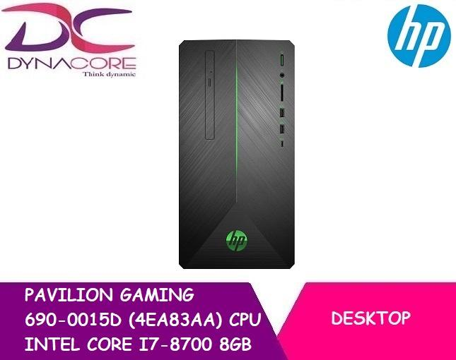 Hp Pavilion Gaming 690-0015d (4ea83aa) Cpu Intel Core I7-8700 8gb 1tb Hdd 128gb M.2 Ssd Win 10 By Dynacore.