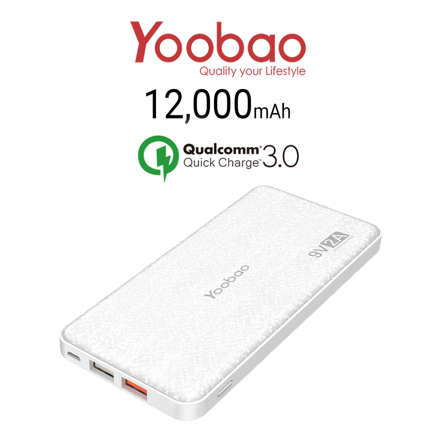 Compare Prices For Yoobao Q12 12 000Mah Quick Charge Powerbank
