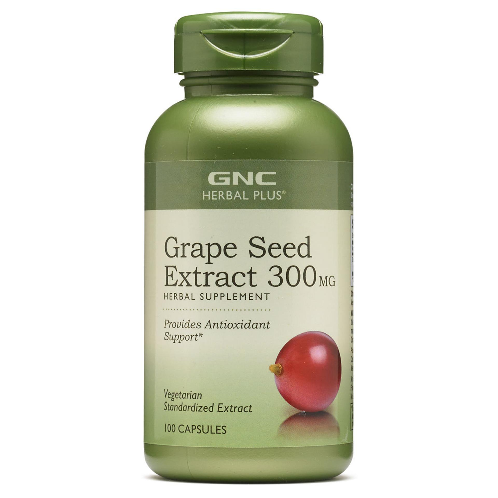 Review Gnc Herbal Plus Grape Seed Extract 300Mg 100 Capsules Gnc