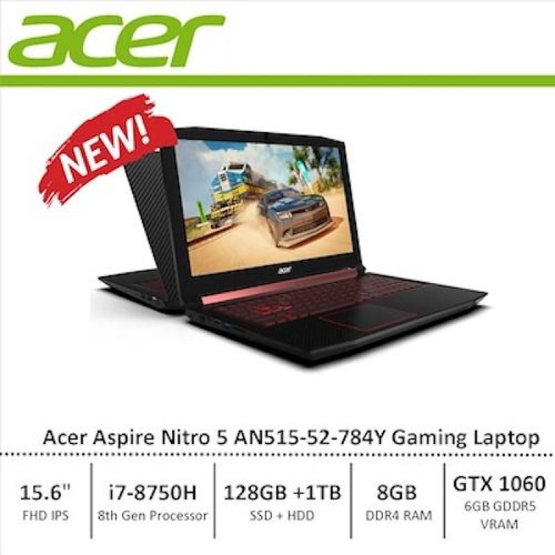 Sept Promo!!! Acer Nitro 5 (AN515-52-784Y) Gaming Laptop - 8th Generation i7 Processor with GTX 1060