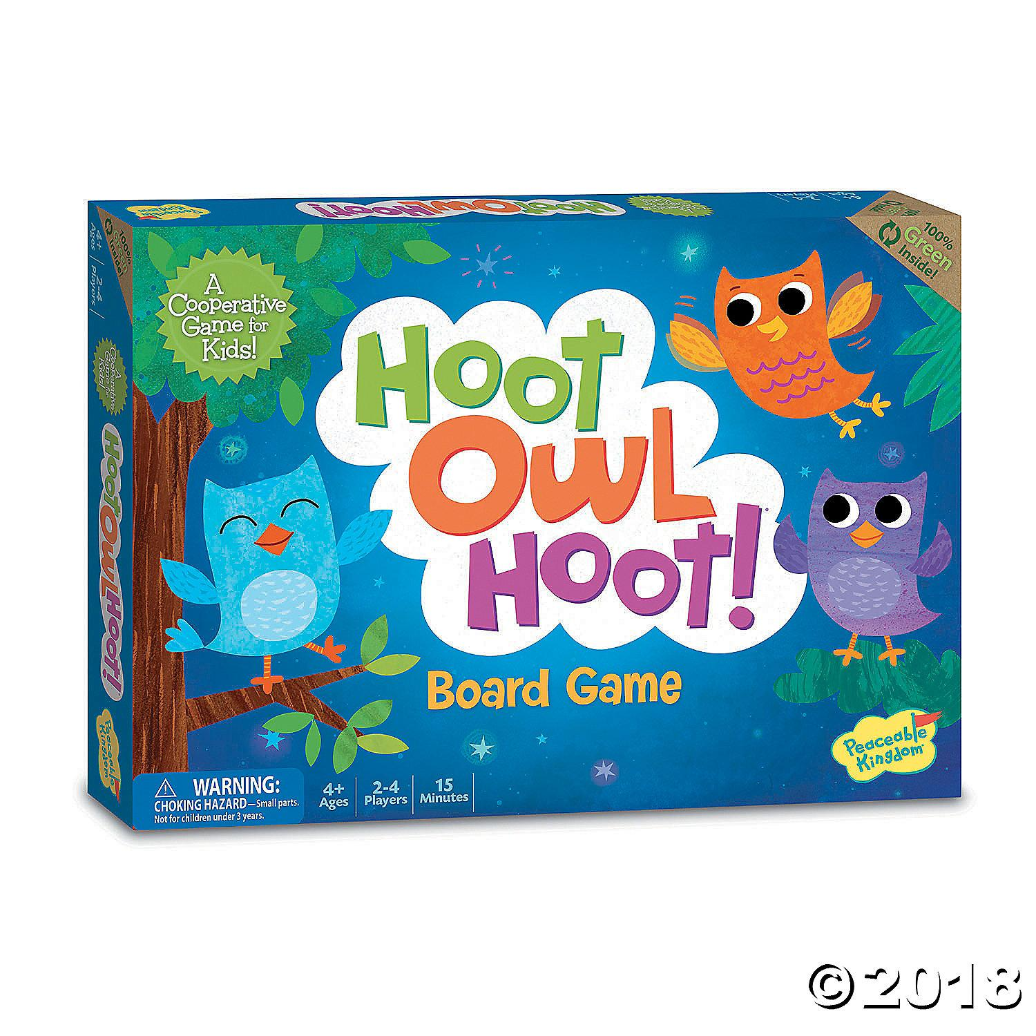 For Sale Peaceable Kingdom Hoot Owl Hoot Award Winning Cooperative Matching Game For Kids