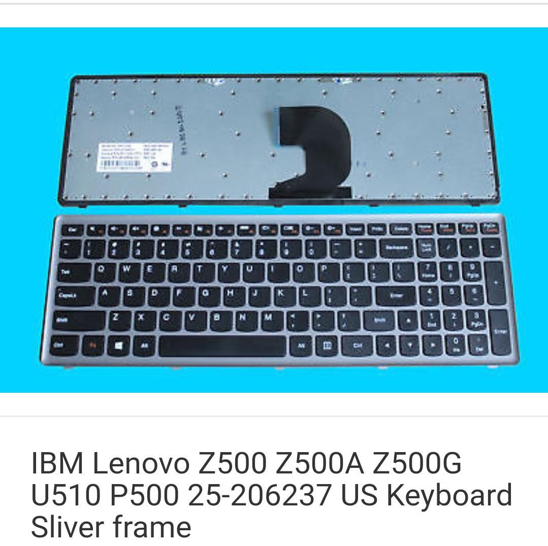 IBM Lenovo Z500 Z500A Z500G U510 P500 25-206237 US Keyboard Sliver frame