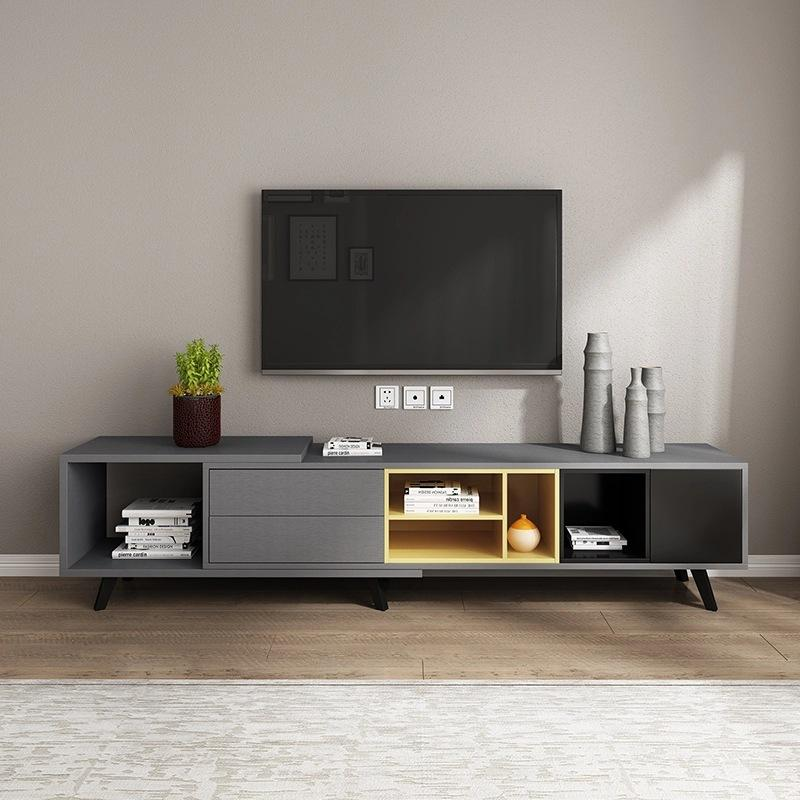Nordic Style Wooden Length Adjustable TV Console