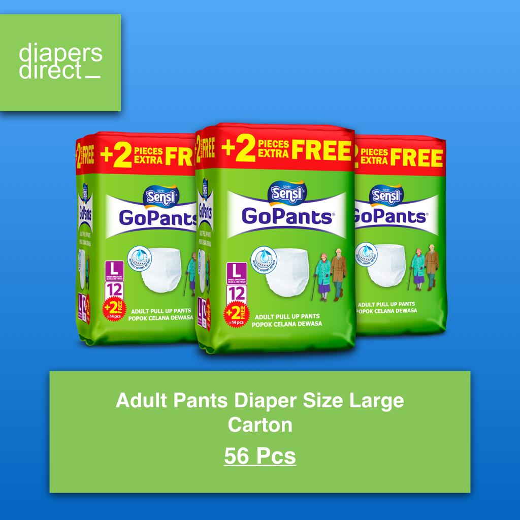 Sensi Buy At Best Price In Singapore Underpad Adult Pants Diapers Size Large Carton 56 Pcs