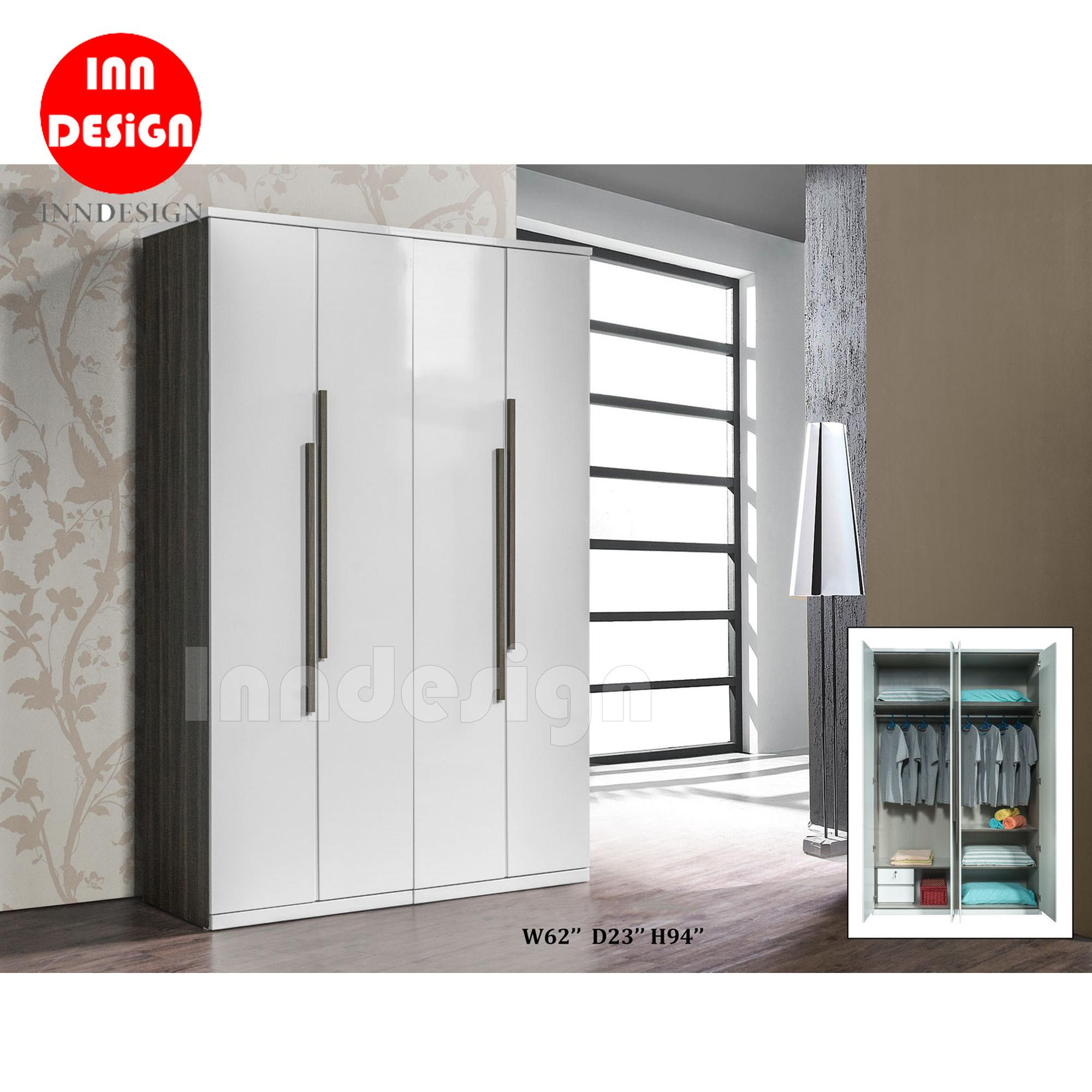 Nove 4 Doors Wardrobe (Free Delivery and Installation)