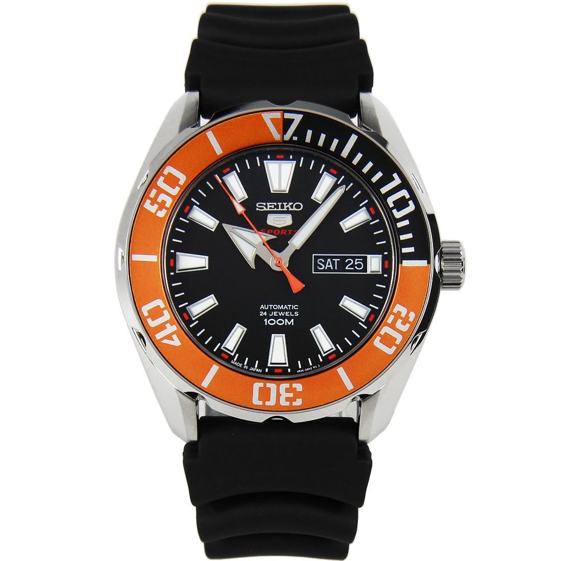 Seiko 5 Sports SRPC59 SRPC59J1 SRPC59J Automatic Orange Black Bezel Japan Watch