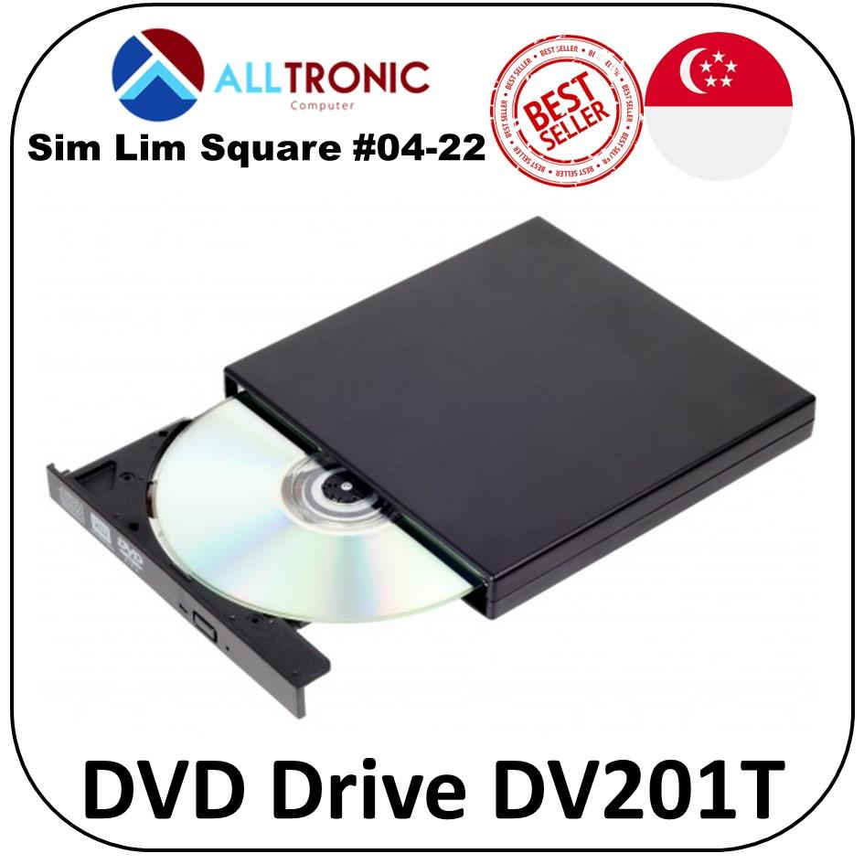 Neo  DV201T-BLK USB2.0 External DVD Reader/ Writer tray Load