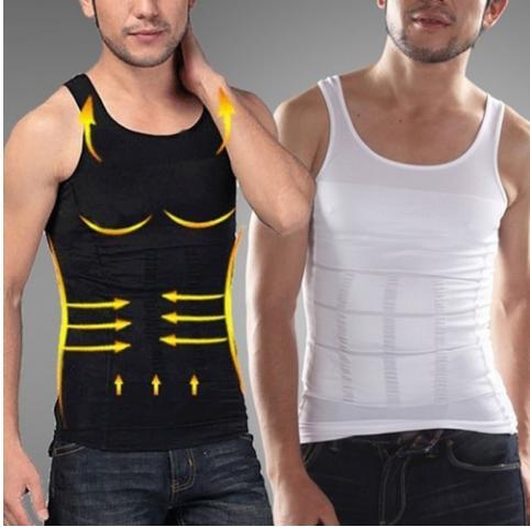 Trait-Tech Men Slim N Lift Body Shaper Vest Compression Sport Vest Belly Shapewear Tanks Slimming Vest Black/white By Trait-Tech Trade Center.