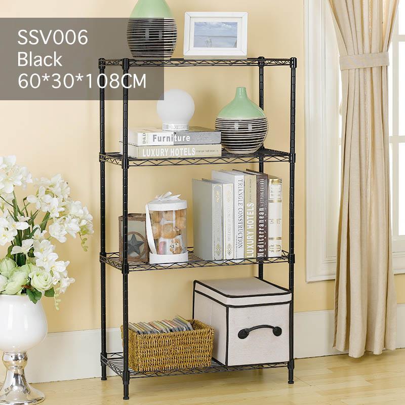 Home office storage shelf carbon steel DIY multi-functional bathroom kitchen book shelf shop bazaar display rack bookcase shelves organizer SSV005 SSV006 SSV010