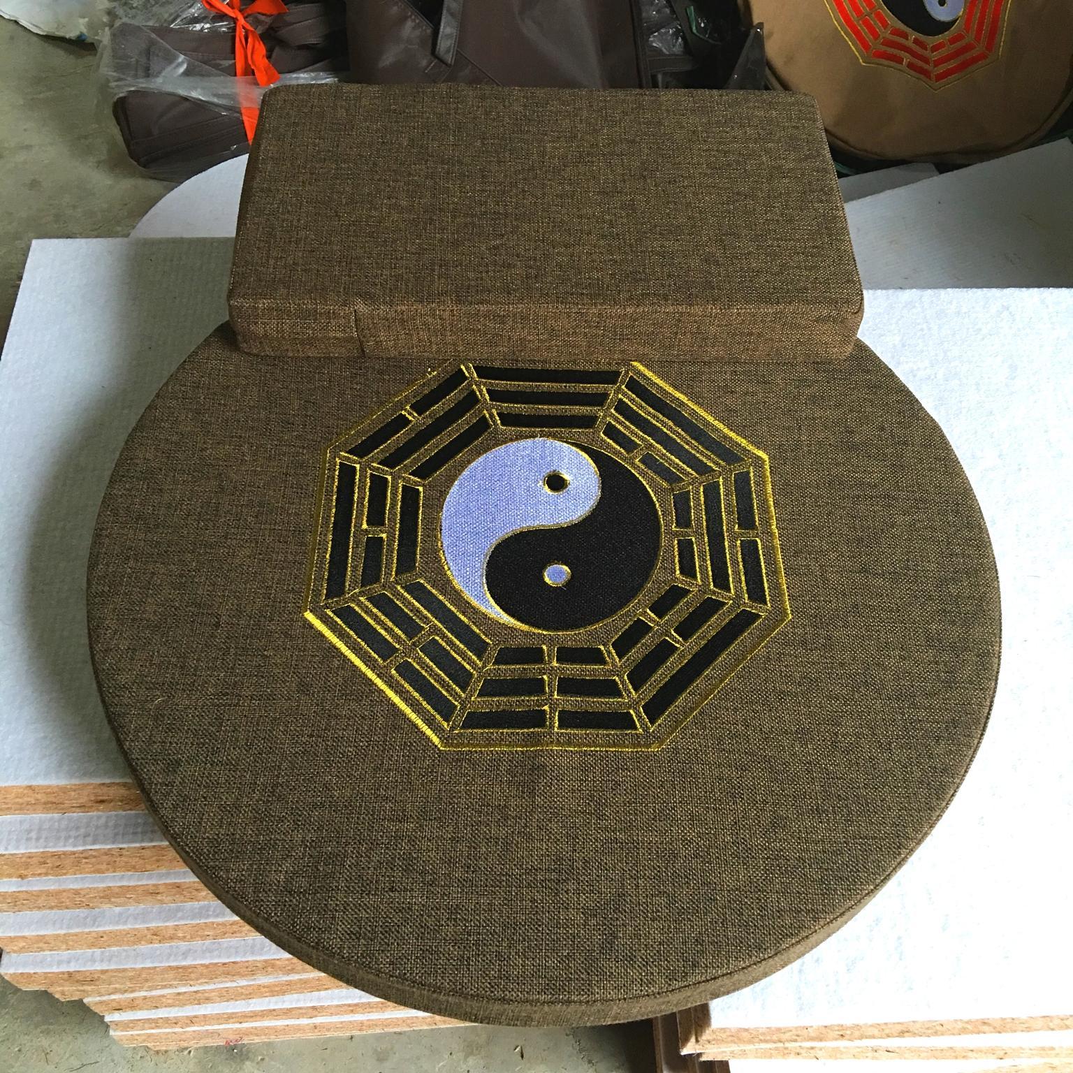 Meditation round ye zong si embroidered cushion da zuo dian