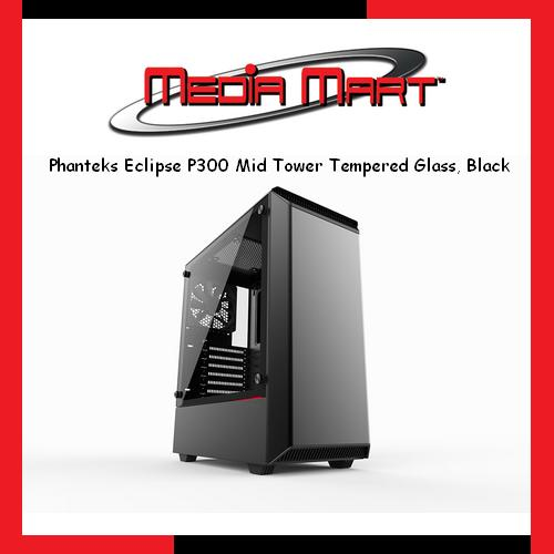 Buy Cheap Phanteks Eclipse P300 Mid Tower Tempered Glass Black