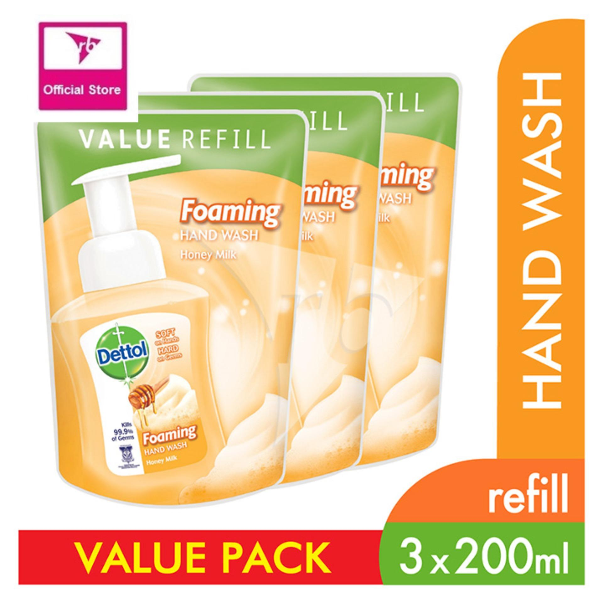 Buy Latest Bath Products Body Care Lazada Dettol Hand Wash Sensitive 200 Ml Pouch 2 Pcs Antibacterial Foaming Honey Milk Refill 200ml X 3