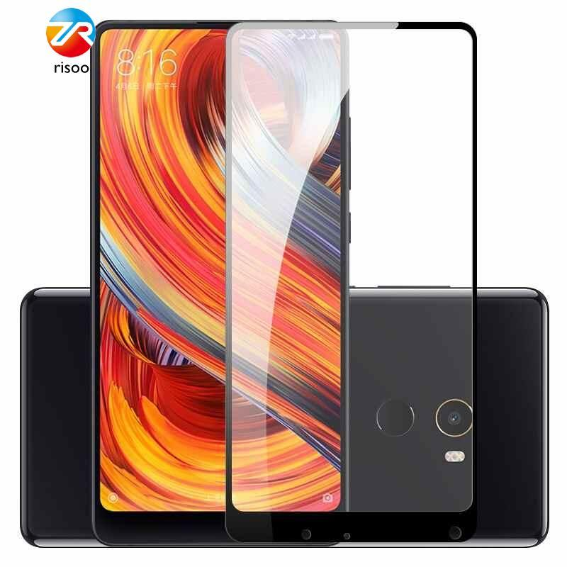 Anti-crash Screen Protector for Xiaomi Mi Mix 2 Full Cover Tempered Glass - intl