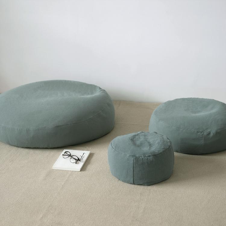 Lazy Simple Cotton Linen Bay Tatami Low Stool Sofa