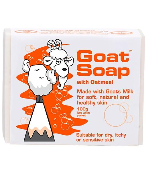 Goat Soap With Oatmeal Value Pack (4 X 100g Soap Bars) By Australia Health Warehouse.