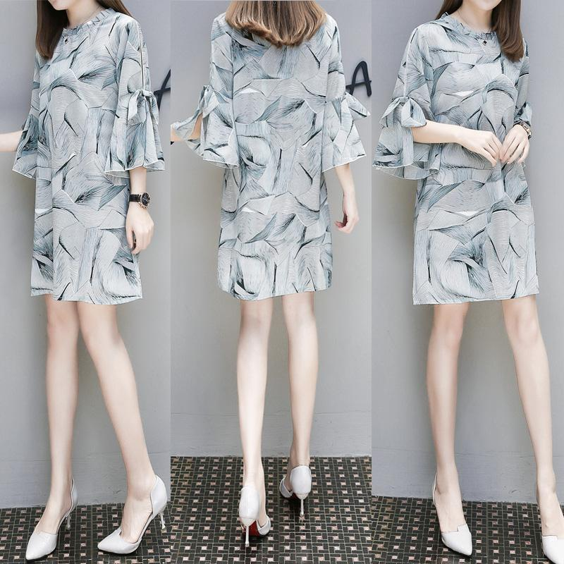 Symbol Of The Brand 5xl Oversize Women Dress 2018 New Spring Autumn Long Sleeve Casual Loose Dress Outfit Tops Plus Size Female Floral Spliced Dress Bringing More Convenience To The People In Their Daily Life Women's Clothing