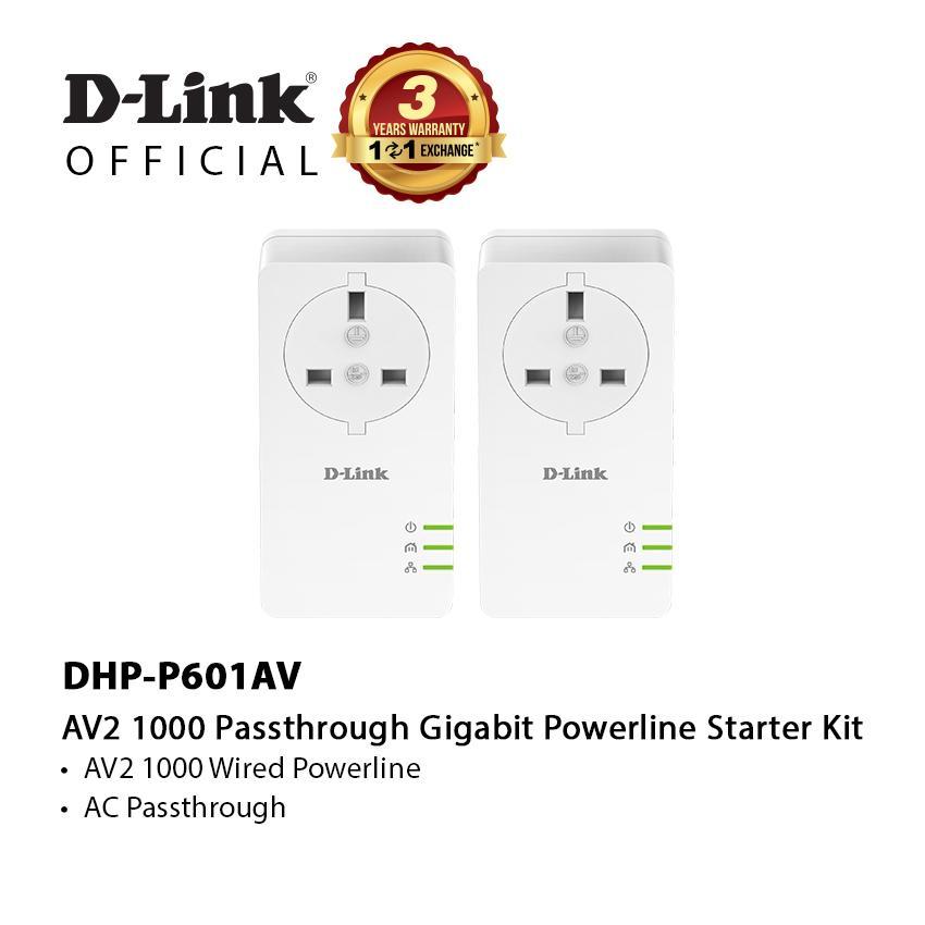 D-Link Dhp-P601av Av2 1000 Gigabit Powerline Kit Set By D-Link Official Store
