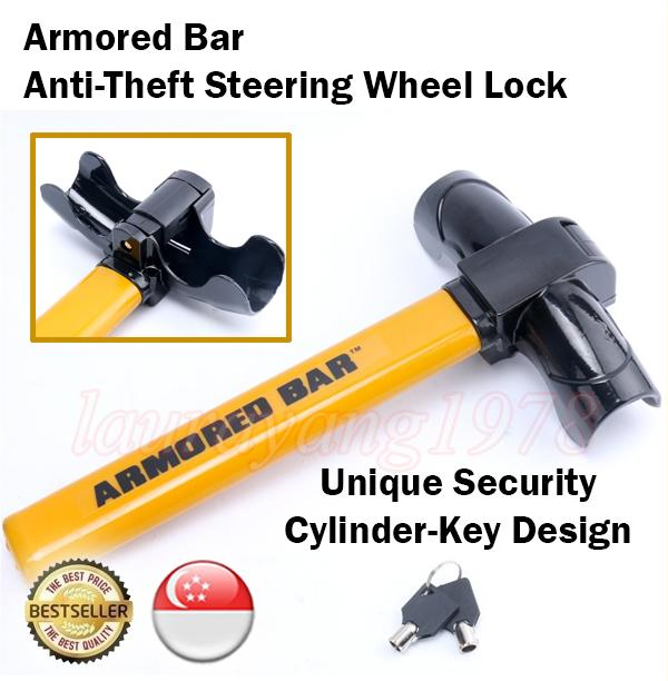 Deals For Armored Car Anti Theft Steering Wheel Lock Thief Steal Car Vehicles Security
