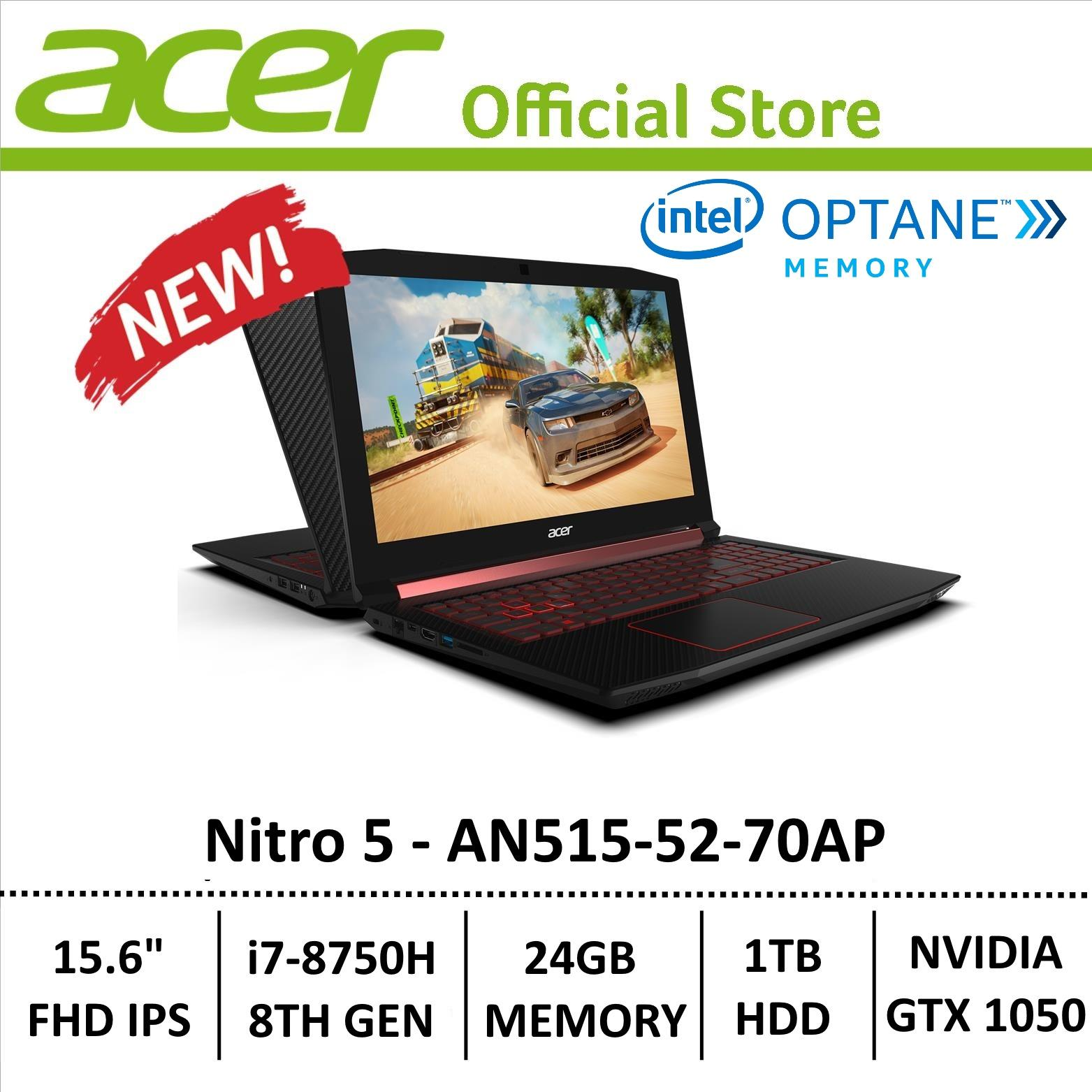 Acer Aspire Nitro 5 An515-52-70ap Gaming Laptop - 8th Generation Core I7+ Processor With Gtx 1050 Graphics (optane Memory) By Acer Official Store.