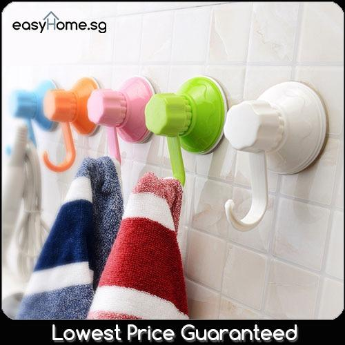 Wholesale Sq1007 Suction Hook 6Pcs Easy Installation No Drill Hanging Towel Hanger