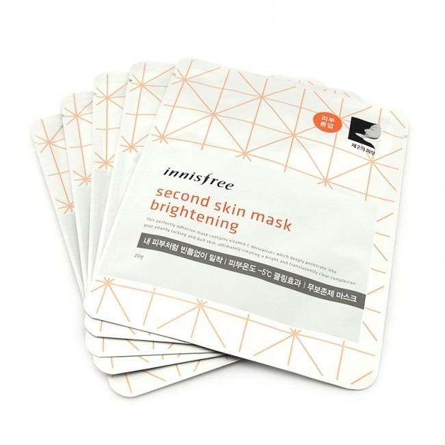 Discount 5 Sheets Innisfree Second Skin Mask Brightening
