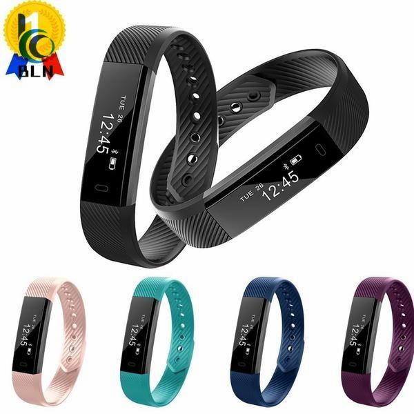 Buy 【Bln Tech】Original Id115 Smart Bracelet Fitness Tracker Watch Alarm Clock Step Counter Smart Wristband Band Sport Sleep Monitor Smartband Black On Hong Kong Sar China