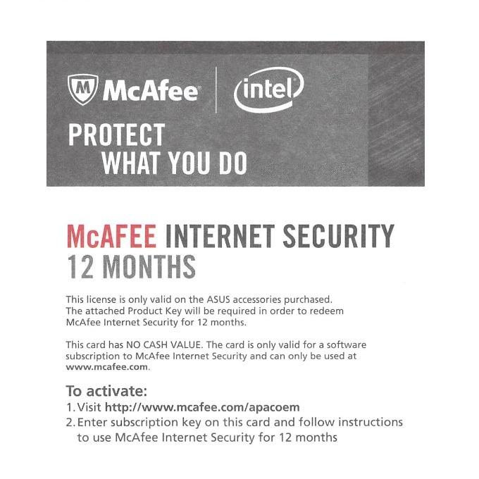 McAfee Internet Security 12 Months - Product Key only