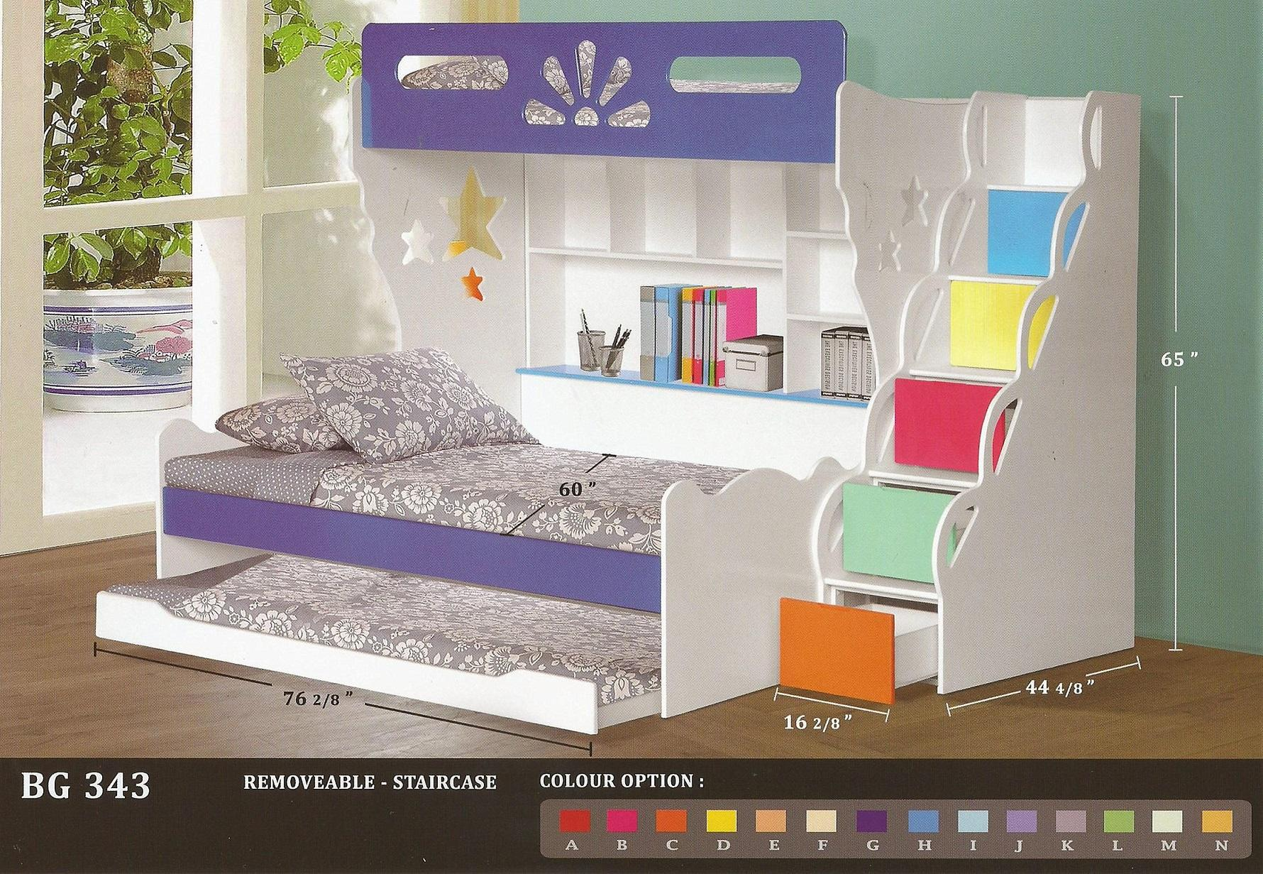 KIDS BUNK BED QUEEN SIZE (Space Saving)