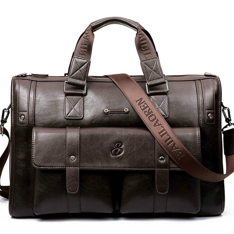 2019 Hot Sale Super Cool and Fashionable Man Bag Leather Briefcase Men Business Handbag Messenger Bags Male Mens Shoulder Bag Large Capacity Handbags - intl