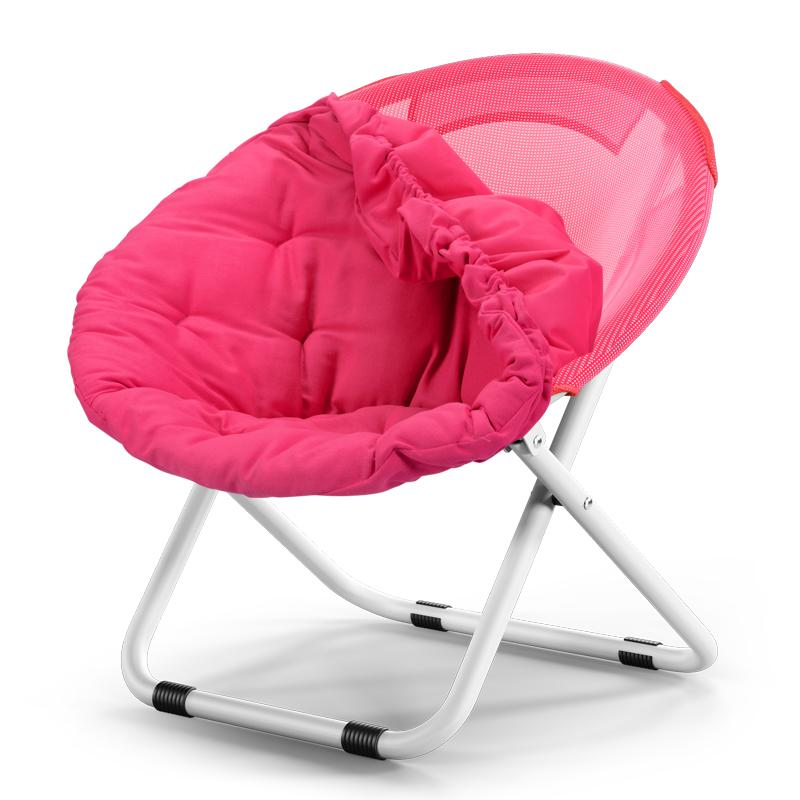 Removable and washable Lazy Folding Chair Couch Chair Chairs Round Sofa Chair Moon Chair Sun Chair - intl