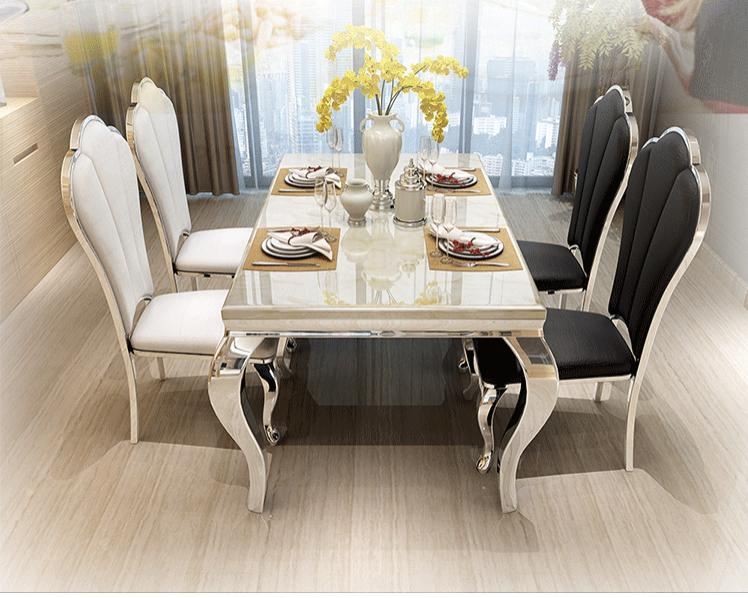 JIJI (Free Installation) Grandeus Marble Top Dining Table (Dining Table Only) (Dining Table)